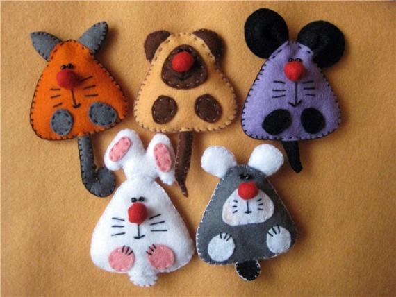 Игрушки для детей из фетра