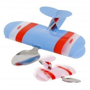 детская ложка игрушка самолёт