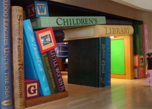 креативный дизайн библиотеки