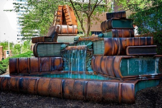 книжный фонтан