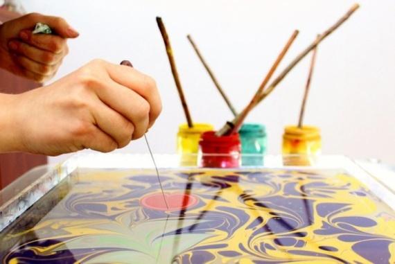 искусство эбру - рисование на воде